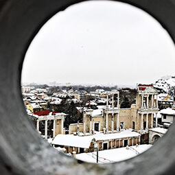 Rome Italy view peek hole gem secret winter snow UGC travel content photography